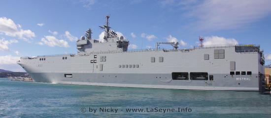 Le Porte-Hélicoptère amphibie (PHA) Mistral et la Frégate Guépratte, seront déployés jusque dans l'Océan Pacifique