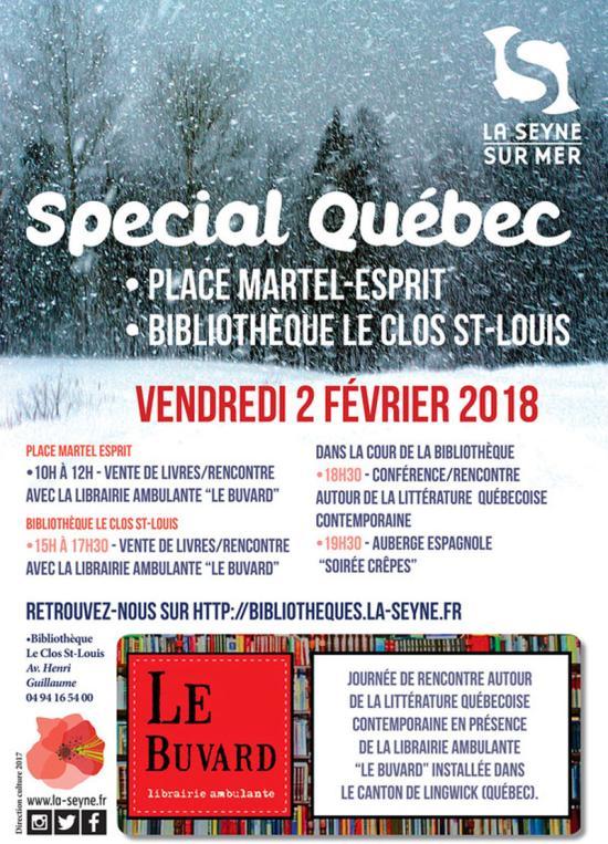 Une Librairie québécoise ambulante à La Seyne sur Mer, le 02/02/2017
