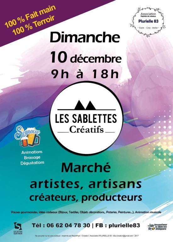 Les Sablettes créatifs: Le Marché d'Artisans, Artistes, Créateurs, Producteurs locaux et Bio
