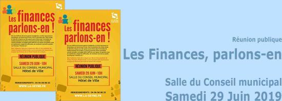 Réunion publique: « Les Finances, parlons-en », le 29 Juin 2019, en Salle du Conseil municipal