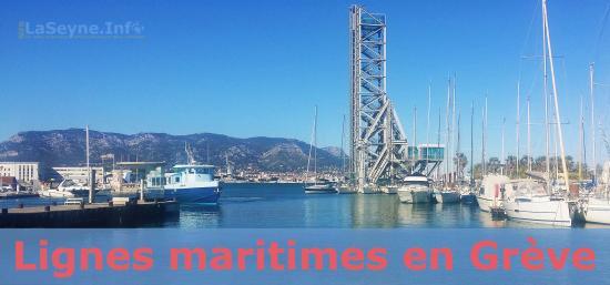 Les Lignes maritimes en Grève, le 17 Décembre 2019
