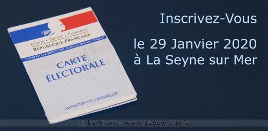 Listes électorales 2020: Inscrivez-Vous le 29 Janvier à La Seyne sur Mer