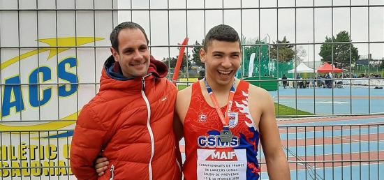 CSMS Athlétisme: Le Seynois Talib MEJRI, Vice-Champion de France Junior 2020 au Disque