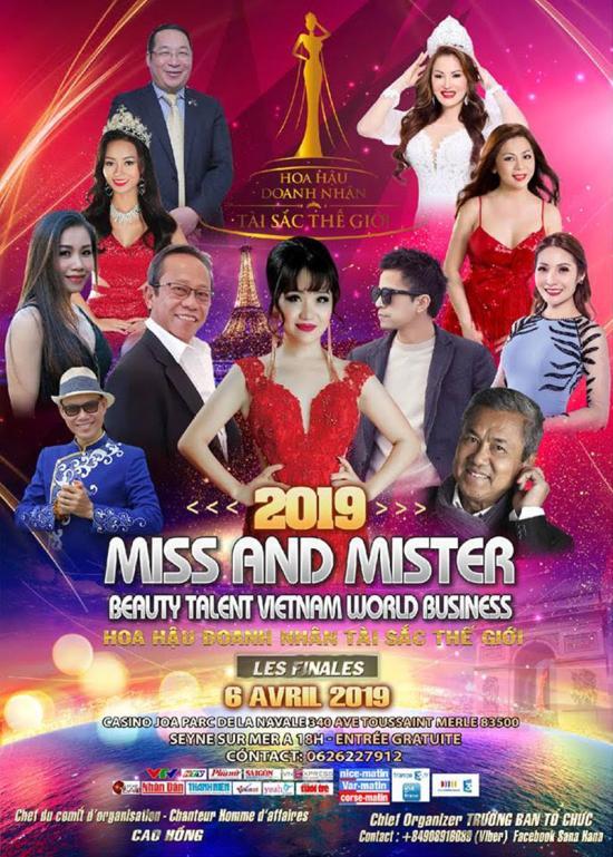 Finale Miss and Mister VN Beauty Elégance-Talent Vietnam World Business 2019