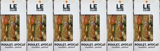 Possible Listeria dans les Wrap-Avocat-Crudités et Club-Poulet-Avocat de Marque MONOPRIX