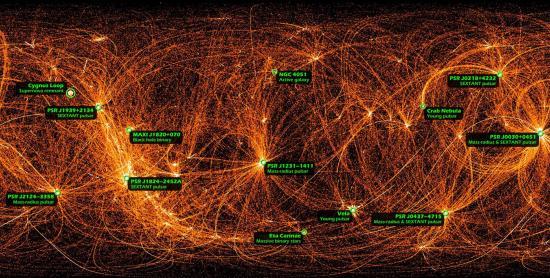A quoi ressemblerait l'Espace si nos Yeux étaient sensibles aux Rayons X ?