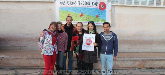 Rassemblement: Nous voulons des Coquelicots, le 05 Avril 2019 à Toulon