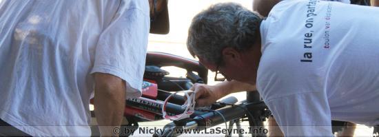 Photos: Prévention des Vols, Opération de Gravage de Vélos Bicycode, Samedi 13/10/2018 au Parc de la Navale