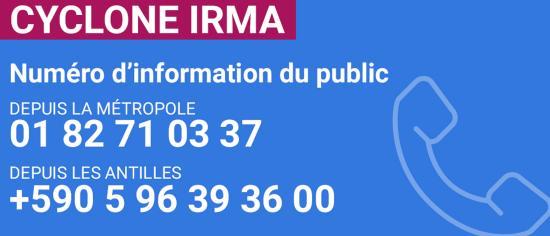 Cellule Interministérielle de Crise : mise en place de numéros d'urgence d'appel d'information du public - OURAGAN IRMA