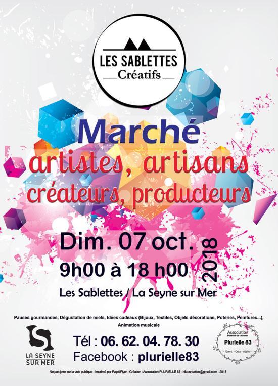 «Les Sablettes créatifs» Dimanche 07 Octobre 2018 à La Seyne-sur-Mer