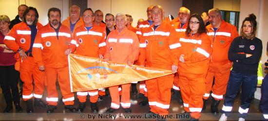 Le Pavillon orange pour la Réserve Communale de Sécurité Civile de La Seyne sur Mer