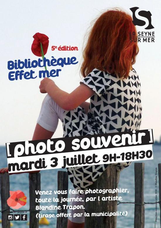 Un Studio Photo Souvenir à la Bibliothèque Effet Mer, le 03/07/2018 aux Sablettes