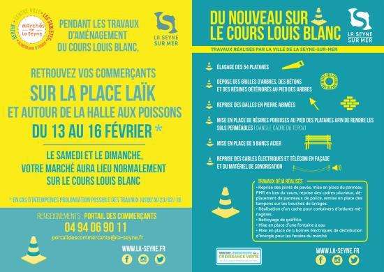 Reprise des Travaux du Cours Louis-Blanc à La Seyne .le 12 Février 2018