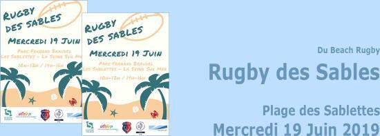 Rugby des Sables, le Mercredi 19 Juin 2019 sur Plage des Sablettes et Parc Braudel