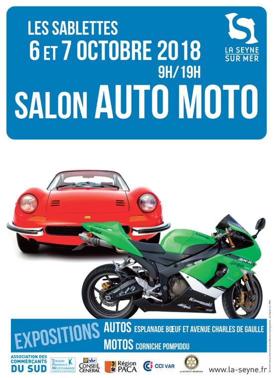 Salon Auto-Moto, les 06 et 07/10/2018 aux Sablettes