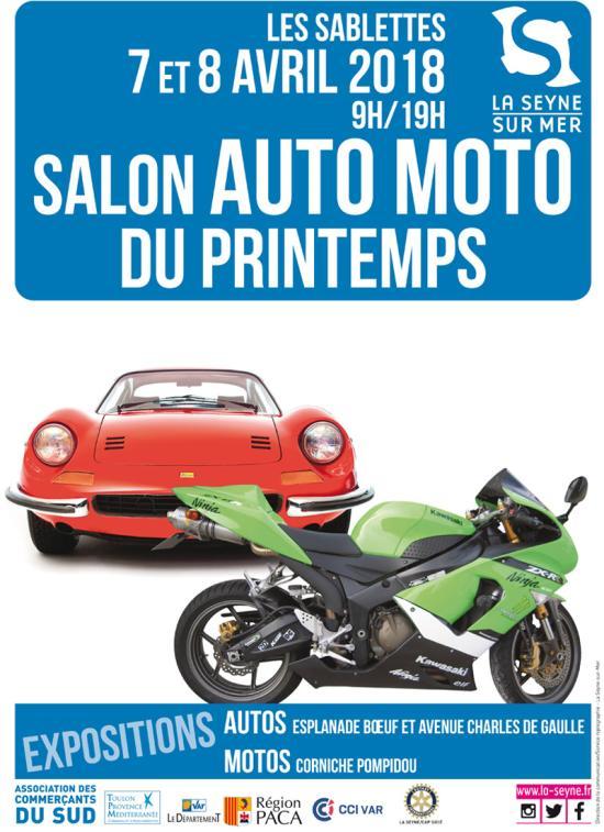 Salon Auto-Moto de Printemps 2018, les 07 et 08 Avril aux Sablettes