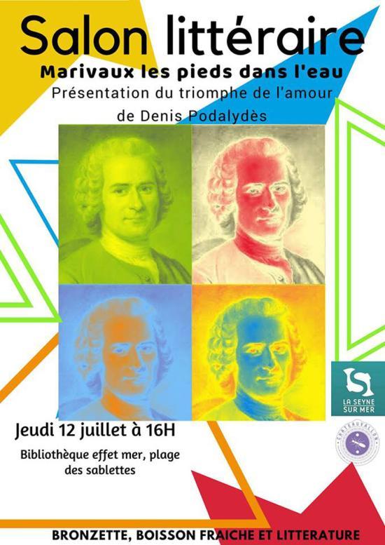 Le Salon littéraire Marivaux les Pieds dans l'Eau !.. le 12/07/2018 aux Sablettes