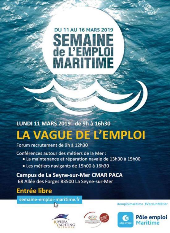 La Semaine de l'Emploi maritime 2019, c'est du 11 au 15 Mars