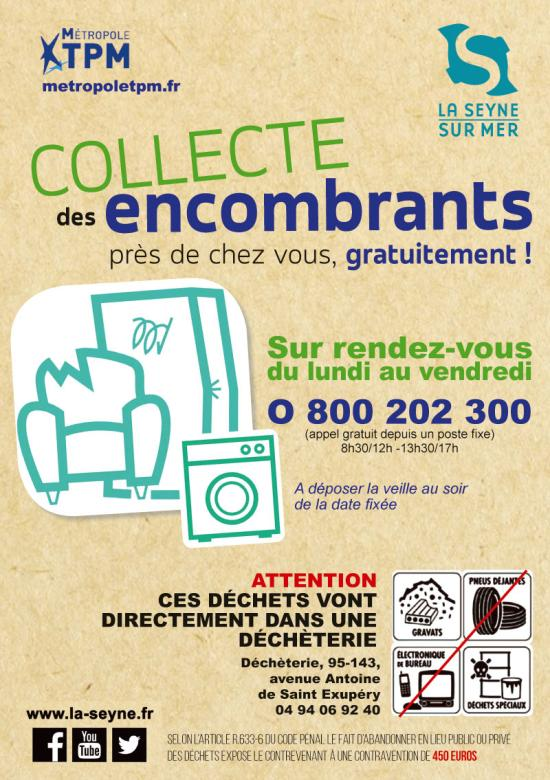 La Commune de La Seyner a mis en Place un Service gratuit Encombrants