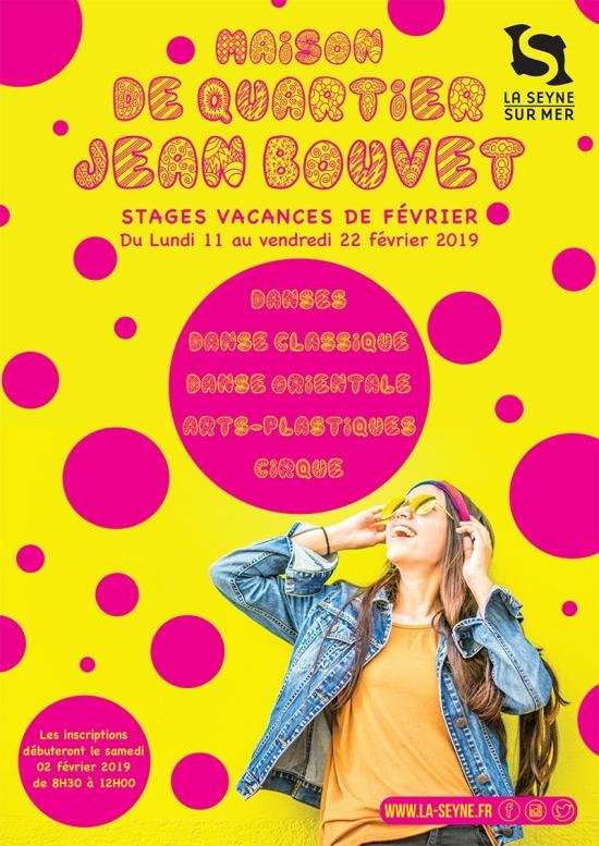 Stages d'Hiver 2019 à la Maison de Quartier Jean Bouvet, du 11 au 22 Février