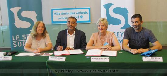 Signature de la Charte de l'UNICEF La Seyne, Ville Amie des Enfants