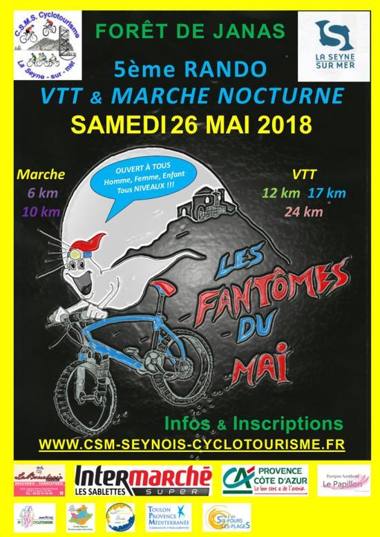 Les Fantômes du Mai 2018: le 26 Mai, Randonnée nocturne à Janas