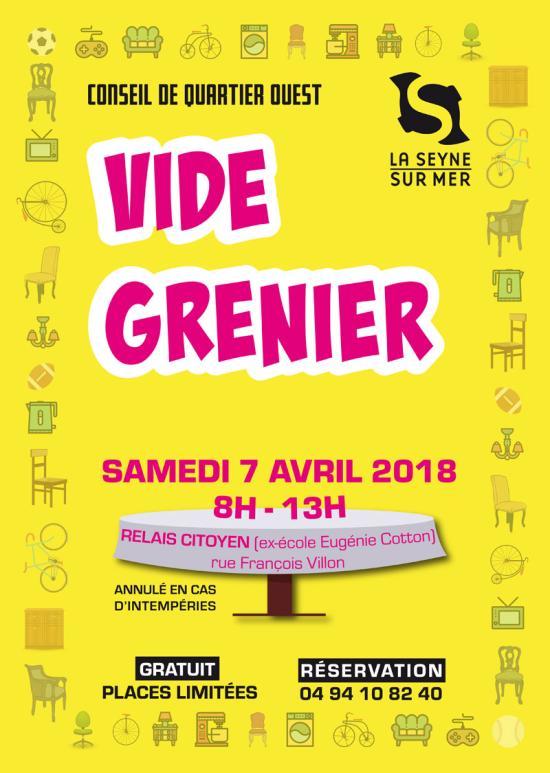 La Seyne - Vide-Grenier du Relais citoyen du Conseil de Quartier Ouest 07/04/2018