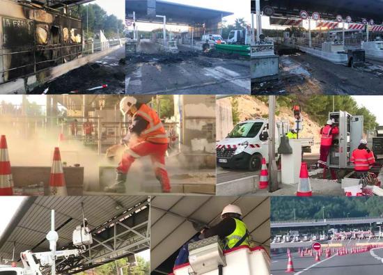 Réouverture partielle du Péage de Bandol en Direction de Marseille