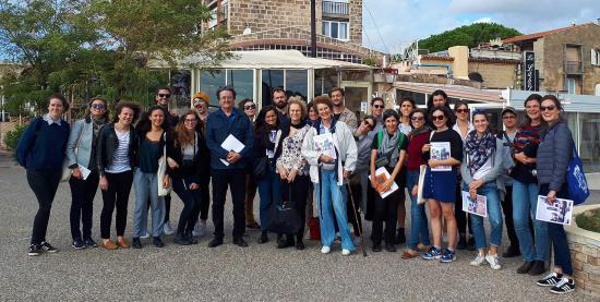 Des Etudiants de l'ENSA Paris Belleville visitent le Village Pouillon des Sablettes