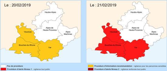 Var: Vigilance Pollution Air, les 20 et 21 Février 2019