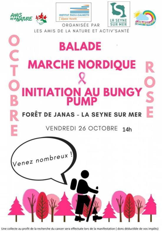Balade, Marche nordique et Invitation au Bungy Pump, le 26/10/2018