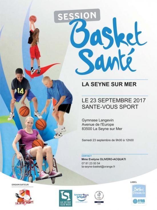 """""""BASKET SANTÉ"""" le Samedi 23 Septembre 2017 au Gymnase Langevin"""
