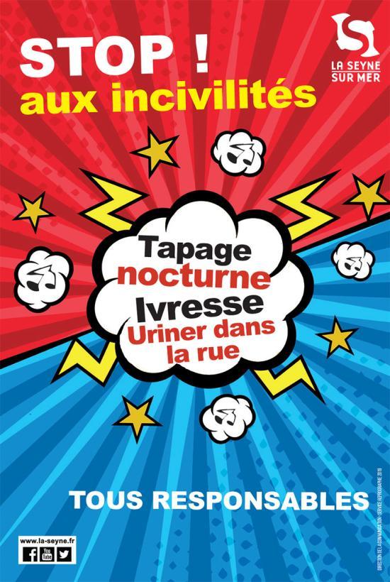 Campagne d'Affichages sur les Incivilités en 4/3 à l'Entrée de Ville de La Seyne