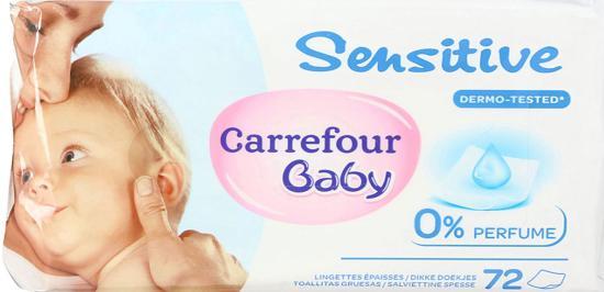 Des Lingettes Baby Sensitive de chez Carrefour contaminées par une Bactérie