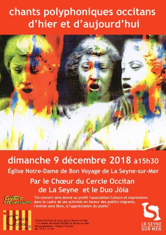 Chants polyphoniques occitans d'Hier et d'Aujourd'hui, le 09/12/2018