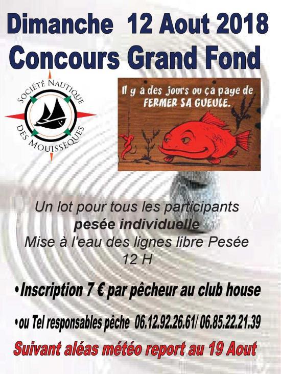 Société Nautique des Mouisseques: Concours de Pêche grand Fond, le 12/08/2018