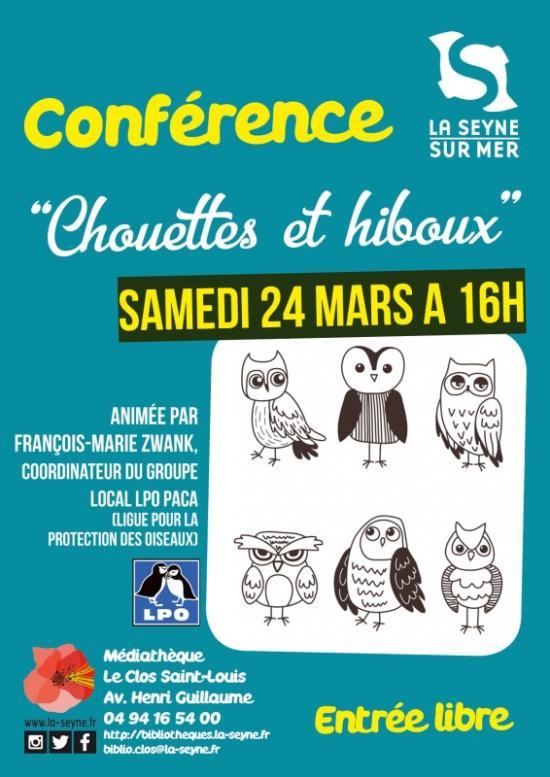 """La Seyne au Printemps: Conférence """"Chouettes et hiboux"""""""