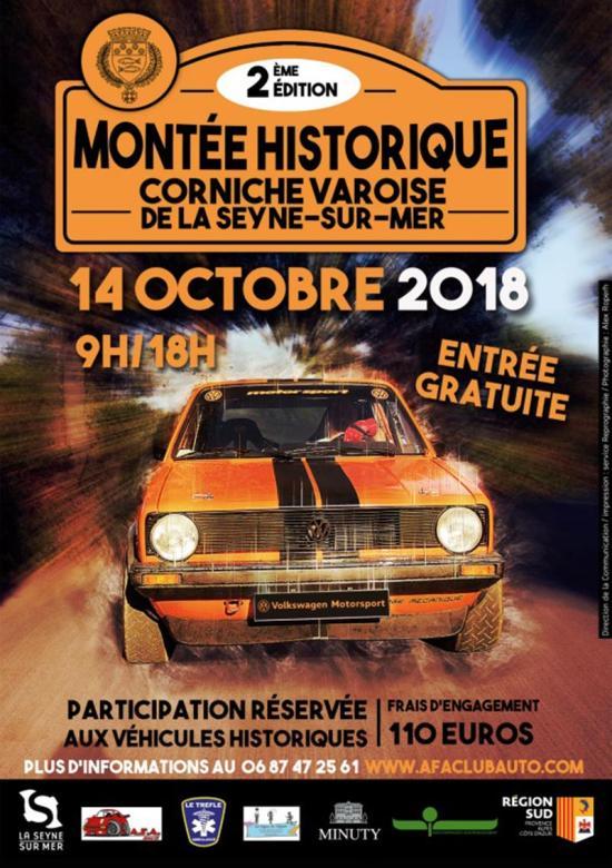 La 2e Montée historique de la Corniche varoise, le Dimanche 14 Octobre 2018