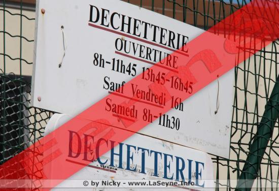 Déchetterie municipale fermée, les 02 Avril, 1er, 08, 10 et 21 Mai 2018