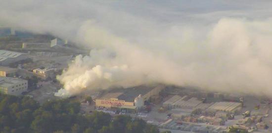 Incendie à l'Entrepôt Bonifay de La Garde