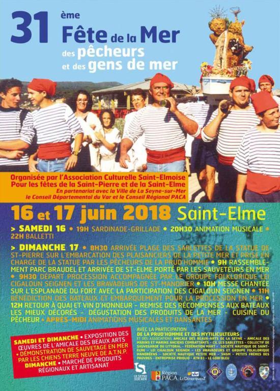 La 31ème Fête de la Mer, des Pêcheurs et des Gens de Mer, les 16 et 17 Juin 2018 à Saint-Elme - Venez découvrir ...