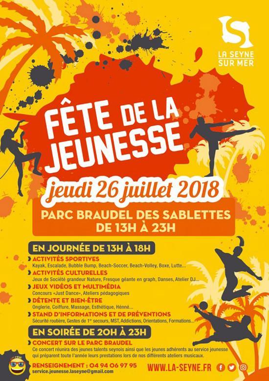 La Fête de la Jeunesse 2018, le 26/07/ aux Sablettes