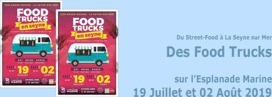Il va y avoir des Food Trucks, les 19 Juillet et 02 Août 2019 sur l'Esplanade Marine