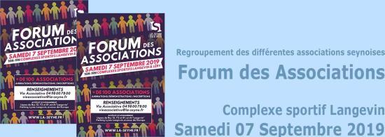Le Forum des Associations 2019, le 07 Septembre au Complexe sportif Langevin