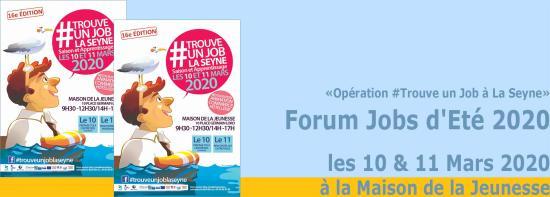 Opération #TrouveUnJobLaSeyne: Le Forum Job d'Eté 2020, les 10 & 11 Mars