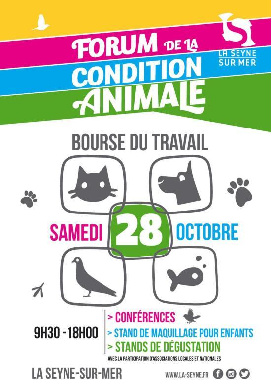 Forum de la Condition animale, Samedi 28 Octobre 2017 de 09:30 à 18:00