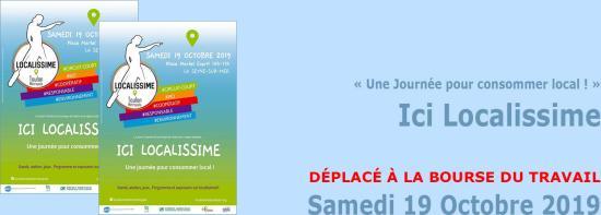#LaSeyne MàJ: Ici #Localissime « Une Journée pour consommer local ! », le 19/10/2019 ⚠️ DÉPLACÉ À LA BOURSE DU TRAVAIL E