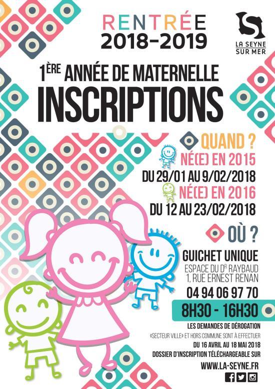 Inscriptions en Maternelles 2018/2019 à La Seyne sur Mer