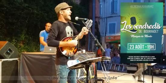 « Jamin » et « -bat- » live sur Seyne, le 23 Août 2019 aux Vendredis de Bourradet