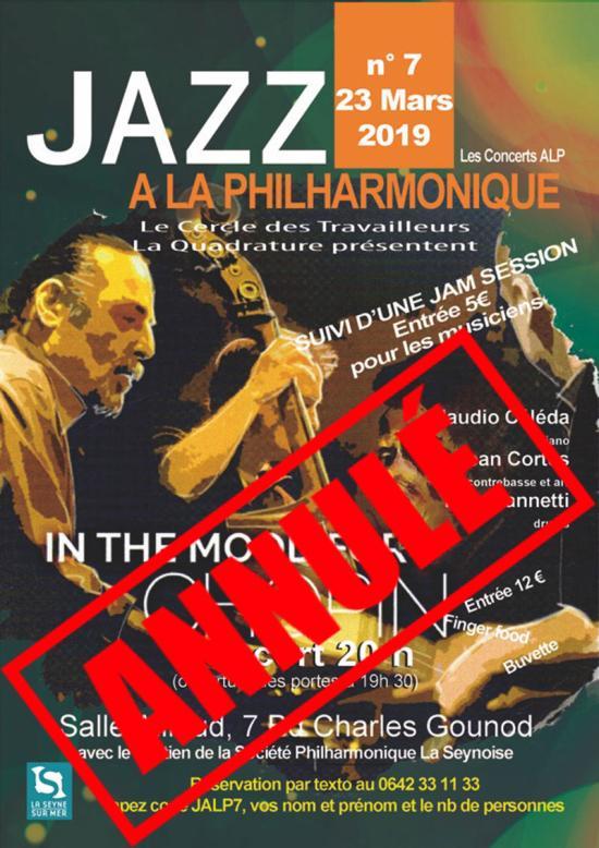 Jazz à la Philharmonique: In the Mood for Chopin, le 23 Mars 2019